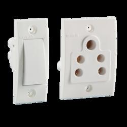White Havells Reo Modular Switches
