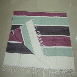 Chenille Stripe Throw