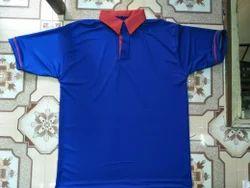 Polyester Half Sleeves Nirmal Net Collar T Shirt, Size: Large