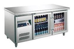 Tri Star Kitchen Equipment Metal Glass Door Refrigerator, Single Door