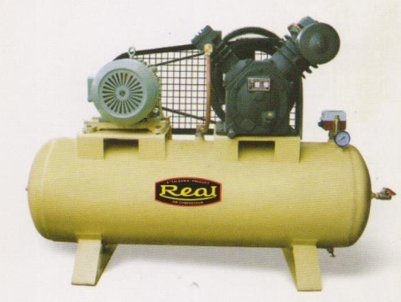 Real 2 Hp Two Stage Air Compressor With Tank, 239; 10 bar Discharge Pressure