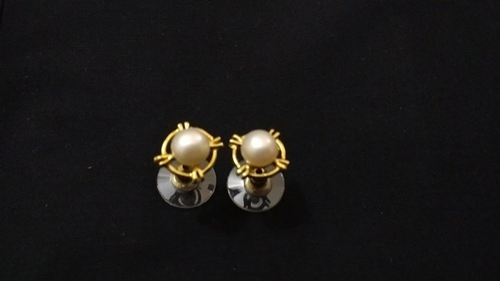 Decorative Pearl Stud Earrings