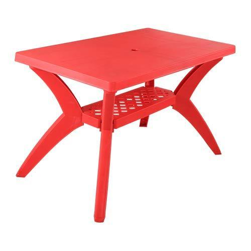 Plastic Table Varmora Savor Cross Plastic Dining Table