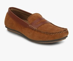 Brown Mens Leather Loafer Shoes, Size: 10