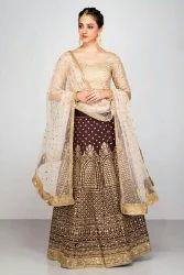 Fabzone Designer Raw Silk lehenga