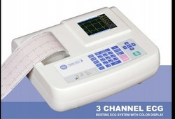 3 Channel ECG Machine RMS vesta 301i, For Hospital, Number Of Channels: 12 Channels