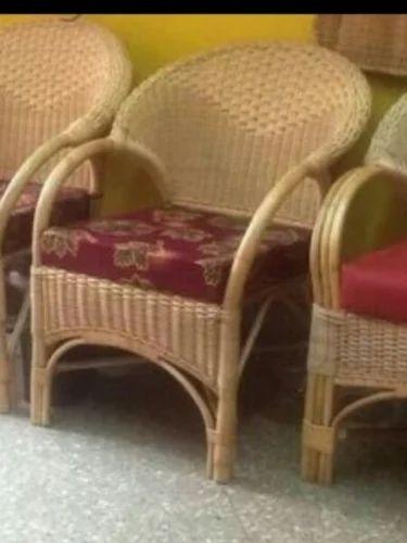 Bamboo Chair With Cushion