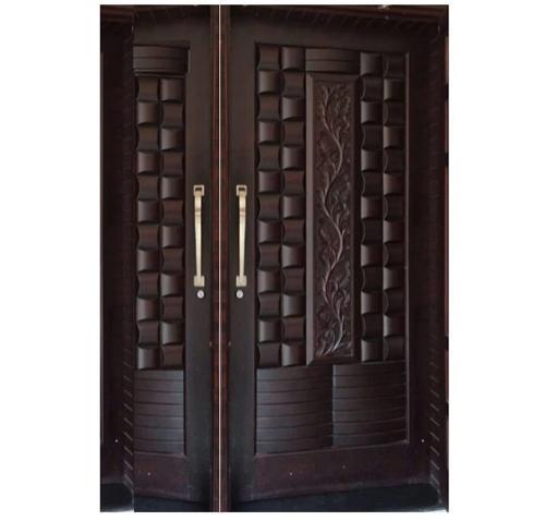 Finished Exterior,Interior TEAKWOOD DOUBLE DOOR, Size: Various