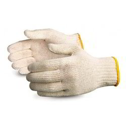 Nova Safe White Cotton Knitted Gloves, 35 G