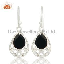 Fine Silver Black Onyx Earring Jewelry