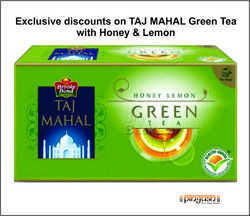 Taj Mahal Green Tea with lemon