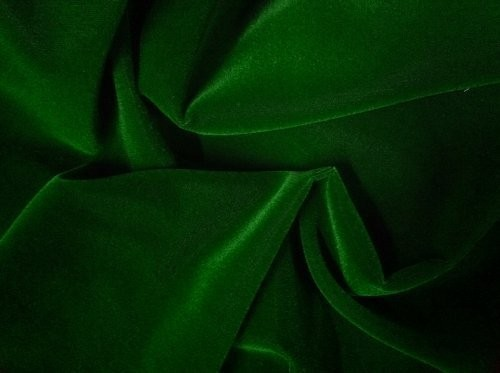 Cotton Velvet Dark Green Upholstery Fabric