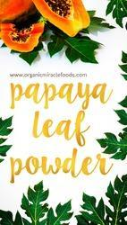 Organic Papaya Leaf Powder