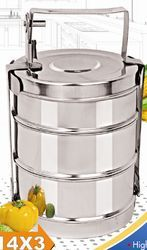 Stainless Steel Bombay Tiffin Carriers