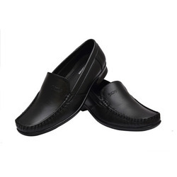 Men Black Leather Loafer Shoes
