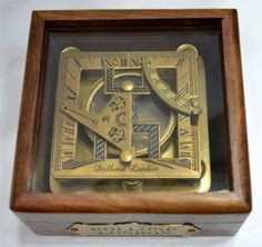 Antique Sundial Compass Nautical Marine Compass