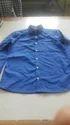 Blue Plain Men Casual Shirt