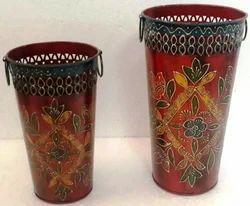Hand Painted Iron Basket (Set of 20)