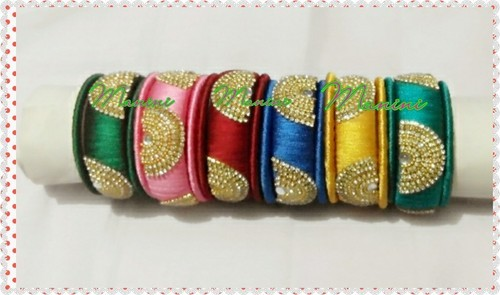 2c070732885b7 Silk Thread Bangles