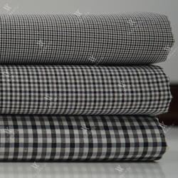 Black Check Shirting Fabrics