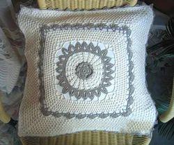 Designer Cotton Crochet Cushion Cover