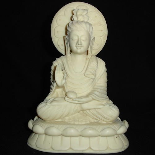 White BUDDHA IN MEDITATION IN RESIN BUDDHA_1, Size/Dimension: 8