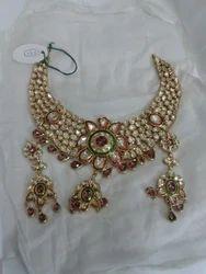 Rajasthani Kundan Meena Neckpiece