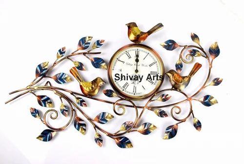 Metal Beautiful Bird Wall Clock Decor