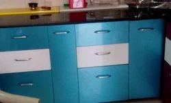 Blue Moduar Kitchen