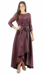 Taffeta Silk Party Gown