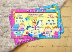 baby shower girl boy theme party housie game tambola ticket