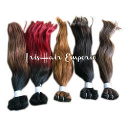 Colored Hair Weft