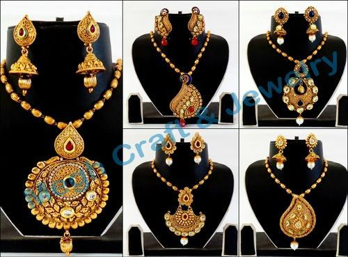 Antique one gram gold oversize pendant set jhumke ka set antique one gram gold oversize pendant set aloadofball Image collections