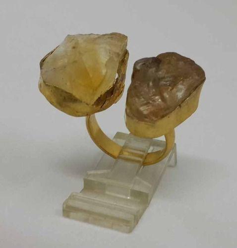 Rough Gemstone Ring-Gold Vermeil Ring-Stacking Ring-Rough St