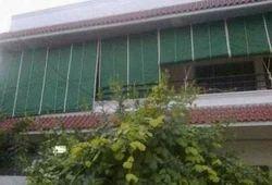 Green Waterproof Exterior Bamboo Blinds