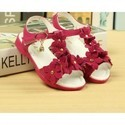 Hot Pink Flowers Party Sandals