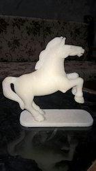 White Marble Horse