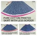 Pure Cotton Printed Skirt With Less Border