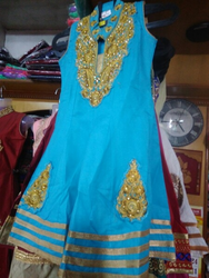 Embroidered Kids Churidar Suit