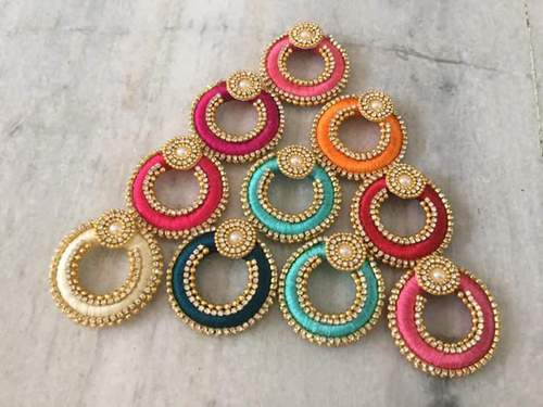 silk thread earrings at rs 120 pair silk thread earrings id
