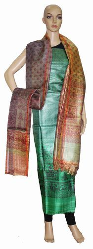 Tussar Silk Unstitched Suit | Pipal Crafts | Manufacturer in ...
