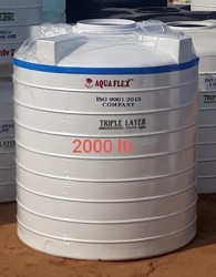AQUA FLEX Plastic 2000 Litre White Triple Layer Tanks