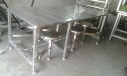 6 Seaters Canteen Dining Table