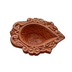 Reddish Brown Clay Shital Diya