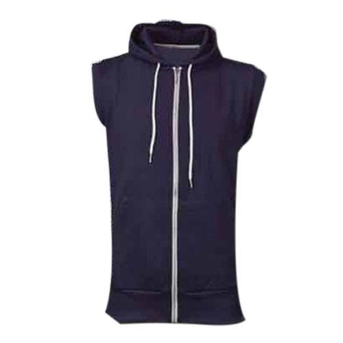 e30fac44fc579 Henex Blue Half Sleeve Jacket