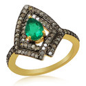 92.5 Starling Silver Emerald Ring