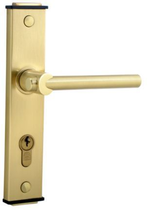 Bonus 777 Rose Handles With Key Holes, Brush Brass