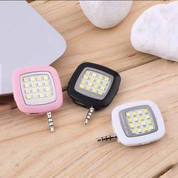 Mobile Camera Flash Light for Night Selfie with 16 LED 3.5mm