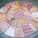 Rainbow Sandstone Honed Circle