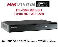 Multicolor 4 Channel Hikvision DS-7204HGHI-SH Turbo DVR, For Video Recording